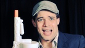 Gun or newscap: who can choose? Bonnie & Clyde and Newsies star Jeremy Jordan better take both.