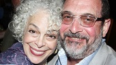 Leading lady Marilyn Sokol hugs two-time Tony nominee Lewis J. Stadlen.
