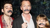 Neil Patrick Harris challenges Adam Chanler-Berat and Celia Keenan-Bolger to a spirited Black Stache-off!