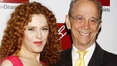 From one Broadway legend to another! Bernadette Peters gets a congratulatory hug from her pal, Tony winner Joel Grey, who co-starred with Peters in George M!.