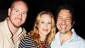 Broadway couple Darren Goldstein and Katie Finneran enjoy a night at the theater with Clybourne Park producer Eric Falkenstein.