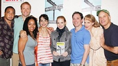 Film star Jessica Chastain gets a warm welcome to the Broadway community from Clybourne Park cast members Damon Gupton, Brendan Griffin, Crystal A. Dickinson, Annie Parisse, Jeremy Shamos, Christina Kirk and Frank Wood. 