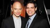 Michael Cerveris, who performed at the ceremony, poses backstage with fellow Tony nominee Jeremy Jordan.