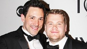 Steve Kazee and James Corden cant stop grinning after their first Tony wins.