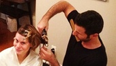 Best Featured Actress in a Play nominee Celia Keenan-Bolger prepares for the 2012 Tony Awards with hair...