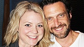 Raúl Esparza gets cheeky with his onstage sister Kendra Kassebaum.