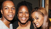 Family Matters! Kecia Lewis-Evans is flanked by her talented Leap of Faith kids, Krystal Joy Brown and Leslie Odom Jr.