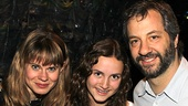 Judd Apatow happily introduces his little lady Maude to a great role model: Peter and the Starcatcher's leading lady and heroine Celia Keenan-Bolger.