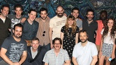 The gang's all here! Judd Apatow and Maude join the Peter and the Starcatcher cast backstage at the Brooks Atkinson Theatre for a starry group snapshot.