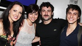 Six degrees of Broadway:  Rachel Potter and Max are in Evita; Potter and Krysta Rodriguez both played Wednesday Addams in Addams Family; Rodriguez and Glick were both original cast members in Spring Awakening; and everyone couldn't be happier for Max. Did you follow?