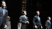 Andy Karl,  John Lloyd Young, Quin VanAntwerp and Matt Bogart make one fab foursome in Jersey Boys.