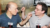 Clybourne Park castmates Frank Wood and Jeremy Shamos share a very special spoon-feeding moment.