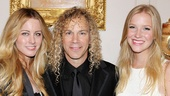 David Bryan is joined by his two real-life leading ladies, wife Alexandria (l.) and and daughter Gabrielle.