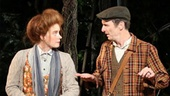 Amy Adams as the Baker's Wife, Denis O'Hare as the Baker, Gideon Glick as Jack and Johnny Newcomb in Into the Woods.