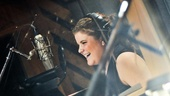 Broadway.com video blogger Ryann Redmond is just as cheerful in the studio as she is onstage and online.