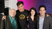They've got chemistry already! A final cast snapshot of Ed Asner, Michael Shannon, Kate Arrington and Paul Rudd.