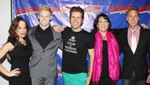 NEWSical stars Leslie Kritzer, Tommy Walker, Perez Hilton, Christine Pedi and Michael West look awful spiffy on their opening night!