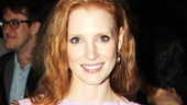 Academy Award nominee Jessica Chastain, who is gearing up to star in The Heiress, looks divine in violet.