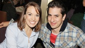Newsies good girl Kara Lindsay chats up Peter and the Starcatcher bad guy Matthew Saldivar.