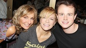 Mamma Mia! stars Judy McLane and Felicia Finley get close to Jersey Boys' Quinn VanAntwerp.