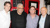 Boyd Gaines and James Earl Jones (who appeared together in Driving Miss Daisy) and Richard Thomas, who starred in Terrence McNally&#39;s The Stendhal Syndrome, take a moment backstage to smile for our camera. 