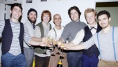 Seven actors, seven off-Broadway debuts! A toast to opening night of The Old Man and the Old Moon.