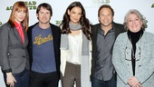 The cast of Dead Accounts lines up! Judy Greer, Josh Hamilton, Katie Holmes, Norbert Leo Butz and Jayne Houdyshell play one big, not-quite-happy family.