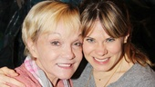 Cathy Rigby doesnt want to let go of the lovely Celia Keenan-Bolger. 