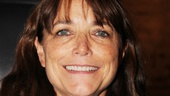 Karen Allen, who stars in A Summer Day at Cherry Lane Theatre, beams at the opening of Turning Page.