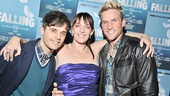 "Julia Murney has all the luck! Here she is in an Andy Mientus/Claybourne Elder sandwich. Little known fact: All three live in the same building; they call it ""The Flop House."""