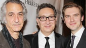 The Heiress stars David Strathairn and Dan Stevens flank their talented director Moises Kaufman on the red carpet.