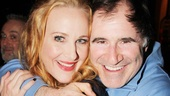 Richard Kind gives Katie Finneran a big bear hug to congratulate her on her big opening.