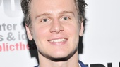 Spring Awakening hunk Jonathan Groff takes in the festivities at the Public Theater. (He appeared in the Public's production of Hair in 2007.)