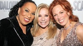 Can you feel the fire? The fiery ladies of Scandalous Roz Ryan, Kathie Lee Gifford and Carolee Carmello put their heads together on opening night.