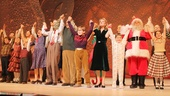 What a way to ring in the holiday season! The cast of A Christmas Story takes a collective opening night bow.