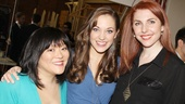 Laura Osnes bonds with her onstage stepsisters Ann Harada and Marla Mindelle.