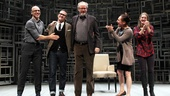  Stars John Schiappa, Daniel Stern, Laurie Metcalf and Zoe Perry welcome playwright Sharr White (second from left) to the stage.