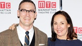 Scribe Sharr White and star Laurie Metcalf take a moment to pose for a happy photo at the party.