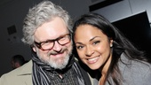 Tony winner Karen Olivo receives support from her recent Murder Ballad co-star John Ellison Conlee (currently starring off-Broadway in The Madrid).
