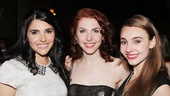 Marla Mindelle is glad to share the opening night with her two beautiful sisters.