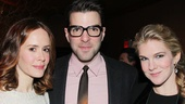 Its an American Horror Story: Asylum reunion for Sarah Paulson, Zachary Quinto and Lily Rabe. Looking good, guys! 