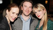 Sarah Paulson hangs out at the afterparty with musician Michael Rabe and sister Lily Rabe (who appeared in Roundabouts Crimes of the Heart and Heartbreak House).