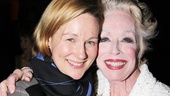 Friends and The Truman Show co-stars Laura Linney and Holland Taylor share an opening night embrace. 
