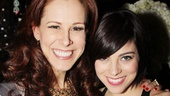 Broadway babies Heather Parcells and Krysta Rodriguez (recently of Smash) are giddy with excitement as they celebrate another opening night!