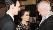 Cory Michael Smith and Emilia Clarke receive some wise words from their director Sean Mathias.