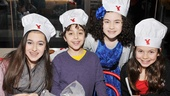 Alex Dreier (young star of Broadway's The Assembled Parties), his sister Allie (left) and Annie's Lilla Crawford and Madi Rae DiPietro are all smiles at this inventive and fun birthday party.