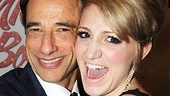 The always adorable Annaleigh Ashford gives a big hug to Kinky Boots producer Hal Luftig. 