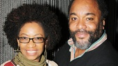 Tony winner Adriane Lenox wraps an arm around Precious director Lee Daniels.