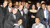 Producers, designers, cast members and Diana Ross! No wonder everyone looks excited.