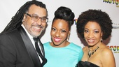 Proud parents Zane Mark and Adriane Lenox stand beside their daughter Crystal Joy, who makes her Broadway debut in Motown: The Musical.